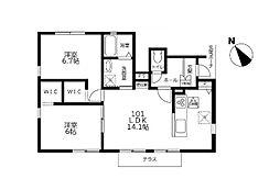 (仮)港南区日限山2丁目新築計画[101号室]の間取り