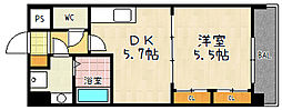 ヒーリングタワー七条大宮[2階]の間取り