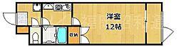 クラージュ舞鶴[11階]の間取り