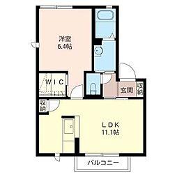 レグレスM[2階]の間取り