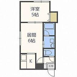 北海道札幌市中央区北十二条西16丁目の賃貸マンションの間取り