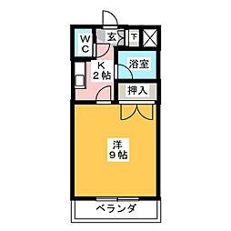コーポラストヨ[2階]の間取り
