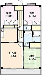 サンリットマンション[507号室]の間取り