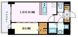 名古屋市営東山線 新栄町駅 徒歩1分の賃貸マンション 2階1LDKの間取り