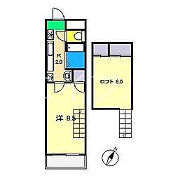 グランドムール高須[3階]の間取り