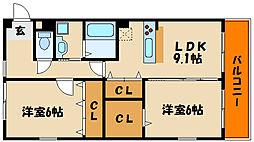 藤江マンション[2階]の間取り