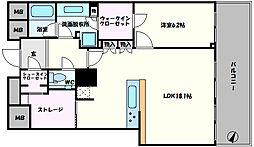ザ・タワー大阪 36階1SLDKの間取り