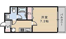 リアーレ北田辺[5階]の間取り