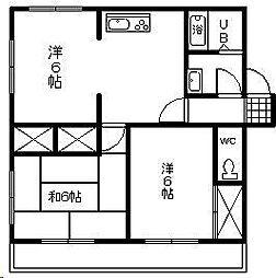 メゾンOGAWA[202号室]の間取り