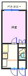 ダイホープラザ橋本II[301号室]の間取り
