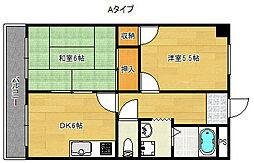シャトー帝塚山[3階]の間取り