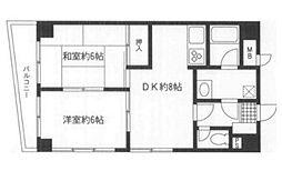 神奈川県横須賀市米が浜通1丁目の賃貸マンションの間取り
