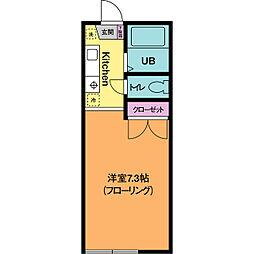 リバーハイツカトウ[2階]の間取り