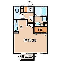 D-Roomウィステリア[1階]の間取り