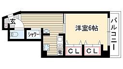 愛知県名古屋市瑞穂区駒場町4丁目の賃貸マンションの間取り