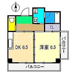 カインド中宝永[4階]の間取り