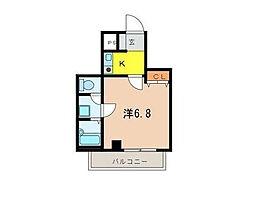 ビルクリバラ[2階]の間取り