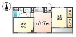 共栄ビル[4階]の間取り
