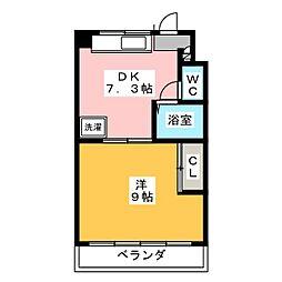 本町アビタシオン[1階]の間取り