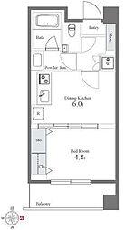 グレンパーク西麻布[3階]の間取り