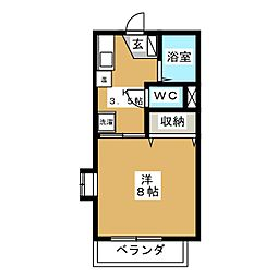 エスポワール A棟[2階]の間取り