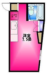 静岡県三島市緑町の賃貸アパートの間取り