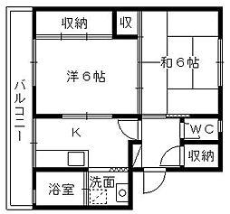 TriviaマンションB[305号室]の間取り