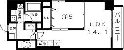 シリウスコート四天王寺[702号室号室]の間取り