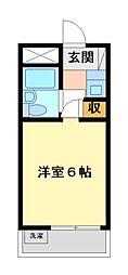 メゾン・ド・武蔵野 学生専用[7階]の間取り