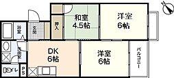 岩田マンション1号棟[3階]の間取り