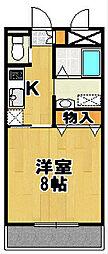 千葉県柏市みどり台1丁目の賃貸マンションの間取り