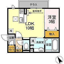 愛知県名古屋市緑区南大高4丁目の賃貸アパートの間取り