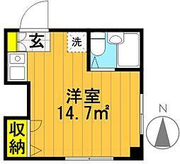 パークサイドハウス[305号室]の間取り
