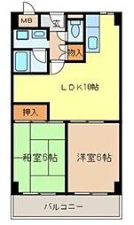城南マンション2[4階]の間取り