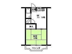 マンションK[3階]の間取り