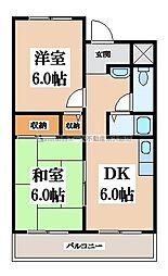 OKハイツ7号館[3階]の間取り