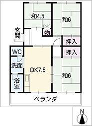 子持松コーポ[5階]の間取り