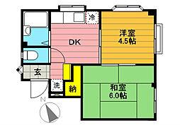 ラセーム高松[3階]の間取り