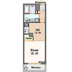 FUKUEBLD[5階]の間取り
