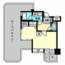 アルファコンフォート福岡西新[407号室]の間取り