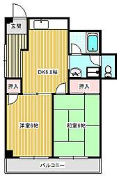 ハイツタムラ[201号室]の間取り