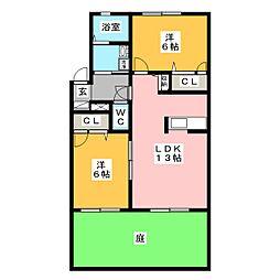 サンハイム シマ[1階]の間取り