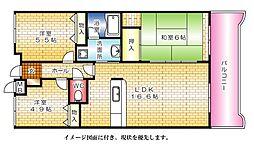 カーサ古江[204号室]の間取り