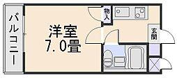 メゾンドゥクリヨン[1階]の間取り