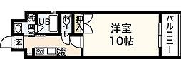 広島県広島市中区舟入川口町の賃貸マンションの間取り