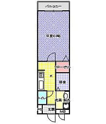 JR片町線(学研都市線) 住道駅 バス8分 平野屋橋西詰下車 徒歩2分の賃貸アパート 1階1Kの間取り