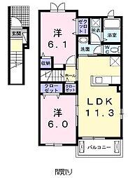 キャナル ガ−デンII[0201号室]の間取り