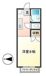 エステートピア神村WEST[1階]の間取り