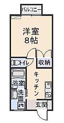ソレールメゾネット桜ヶ丘[205号室]の間取り