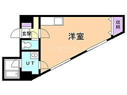 第6松屋ビル 9階ワンルームの間取り